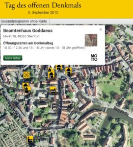 Read more about the article Burg-Steinfurt Stiftung Tag des offenen Denkmals 2013